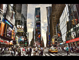 Time Square surrounds you in energy and vibrance