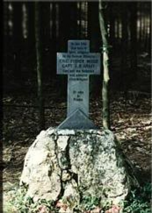 Memorial to Eric Wood near Meyerode