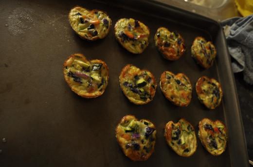 Rainbow Egg Muffins