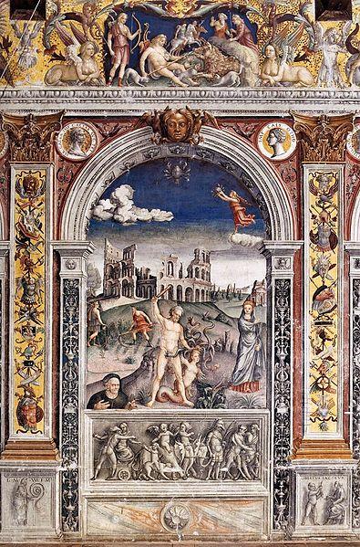 Sala dello Zodiaco, Sign of Cancer, by Palazzo d'Arco, 1515-1520