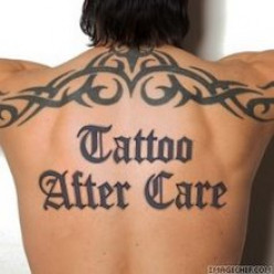 How to take care of a tattoo without the aftercare product