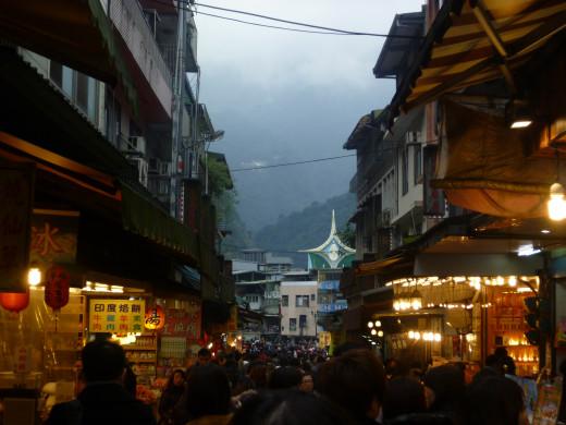 It is the main street in weekend.