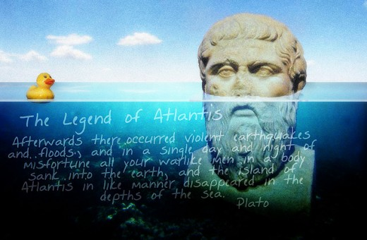 Plato's account of the fall of Atlantis.