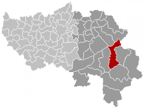 Map location of the Belgian municipality of Waimes, Liège province