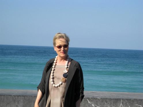 Meryl Streep on the 56th International Film Festival in San Sebastian (Spain).
