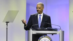 U.S. Attorney General Eric Holder speaks before the NAACP this week.