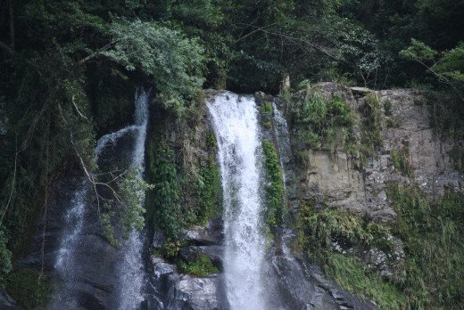 It is the waterfall.