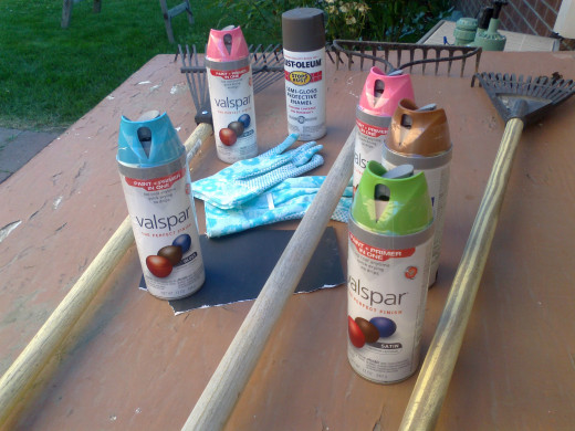 The new spray paints being offered come in a wide variety of colors and are formulated to stick to a wide variety of material including plastics and metal.
