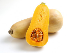 This dark orange squash isn't widely known. It has a nutty and sweet flavor when baked and it provides 223% DV of vitamin A per 100 gram serving.