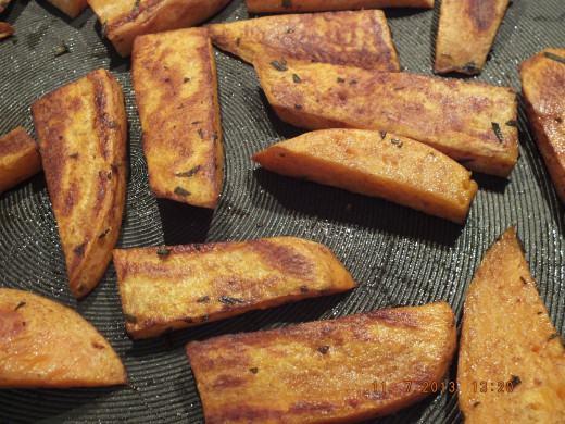 These beautiful browned and aromatic fries only take about 20-25 minutes!