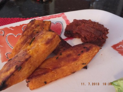 You have got to taste the homemade cinnamon ketchup with cinnamon sweet potato fries! A match made in heaven!