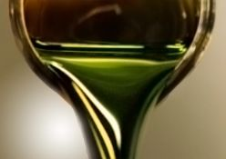 Green oil made from algae.