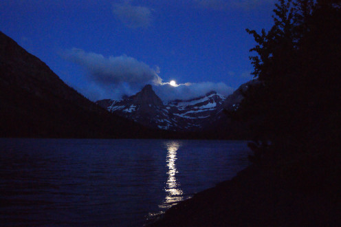 Taken from my campsite at 4:30 AM on Cosley Lake in Glacier NP during a backcountry backpacking trip  on June 22, 2013.