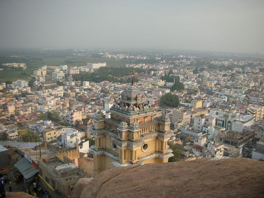 The spectacular view of the city atop the Rock Fort