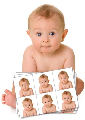 Its Now So Easy to Get A UK Passport Photo - Even A Baby Can Do It - This Is One We Made Earlier.