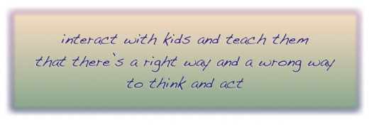 Listen, talk, discuss, converse--don't leave kids to winds that blow from any old place!