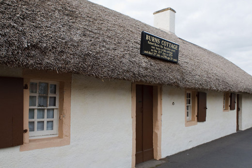 Robert Burn's cottage, Alloway, Ayrshire, Scotland. This iconic cottage gives a very personal experience to those who love both history and poetry.
