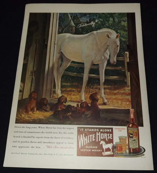 1946 White Horse Whiskey Ad