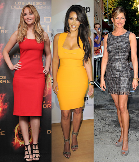 These celebs show off their amazing bodies by wearing simple sheath dresses. How easy is that?!