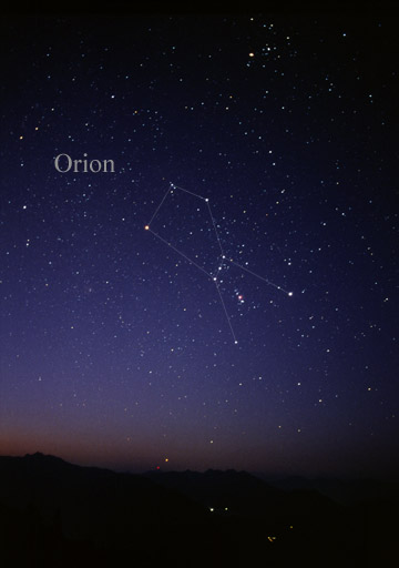 Orion, one of the most recognized constellations.
