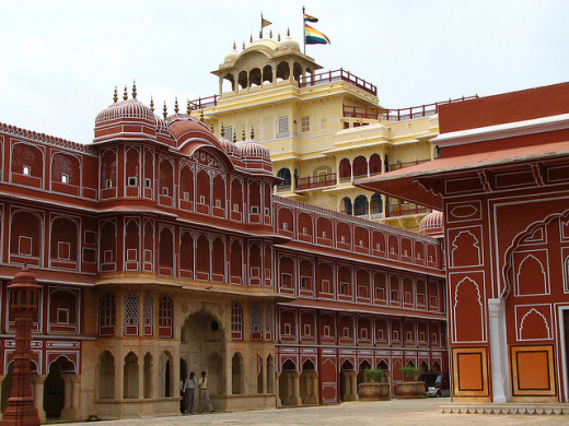 Bright-coloured City Palace
