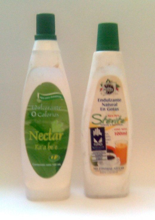 Two South American brands of liquid stevia extract.
