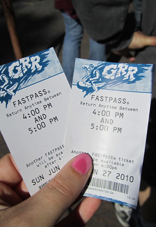 Fastpasses for Grizzly River Run.