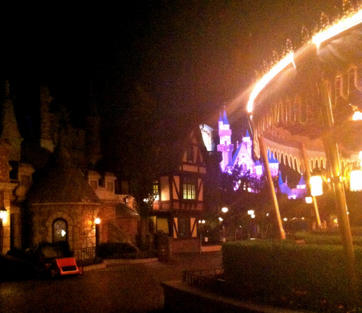 Here is Fantasyland at night right after the firework show.