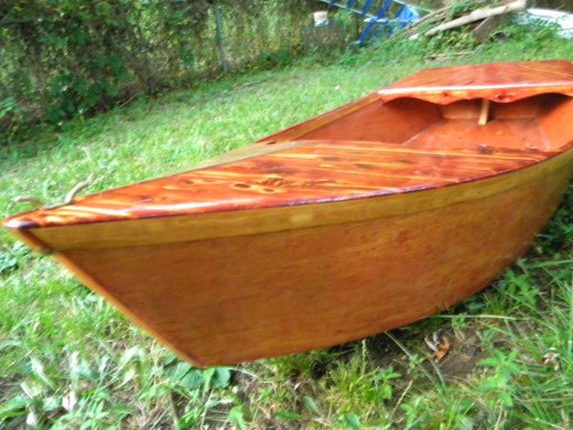 Cedar Boat designed and handcrafted by Native American Artist Wolf Harvey