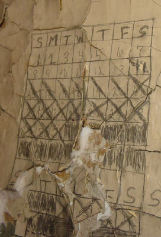 Writings on the walls are still intact from the days when prisoners longingly awaited release