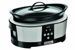 Crock-Pot Slow Cooker, 5.7 Litre, Polished Stainless Steel