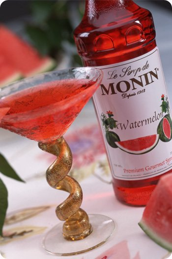 Monin Watermelon syrup makes this drink taste like real watermelon!