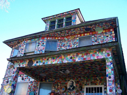 The Heidelberg Project For the Arts. Since 1986, this art program has been taking over abandoned Neighborhoods in Detroit and creating art installations.