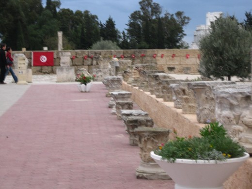Roman Ruins on top of Byrsa Hill in Carthage, Tunisia