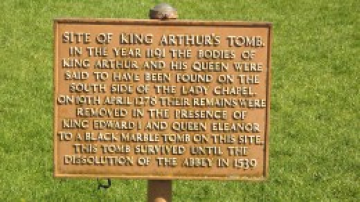 the grave of King Arthur and Guinevere