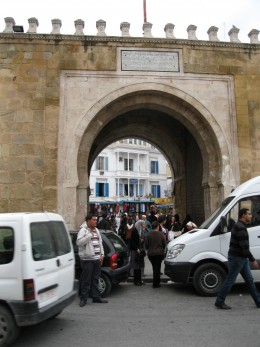 Entrance to Medina, the old section of Tunis, the city where Ibn Khaldun was born