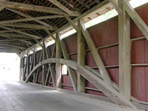 The Burr Arch in the Zook's Mill Covered Bridge
