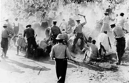 Race riots in formerly apartheid South Africa.