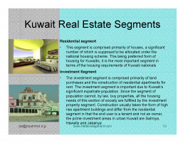 Kuwait Real estate market Market Segments