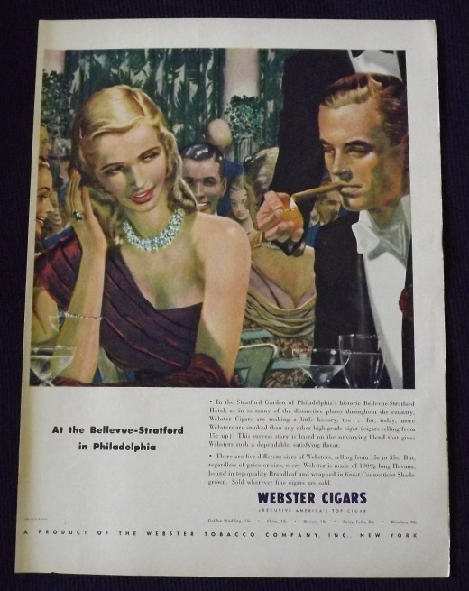 1948 Webster Cigars Ad