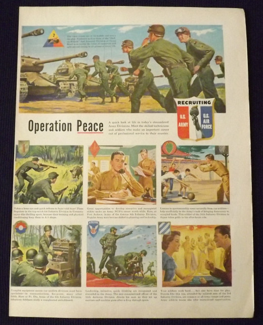 1950 US Army and Air Force Recruiting Ad