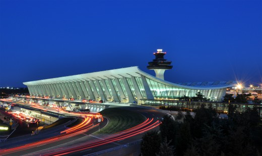 The Dulles Airport At Dusk!
