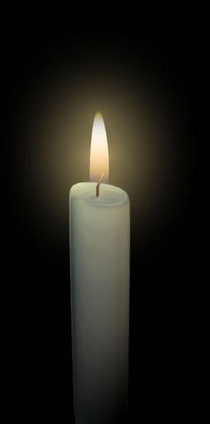 Blender 2.45:   Kerze mit Flamme