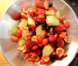 prepared fruit - cherries, berries and rhubarb