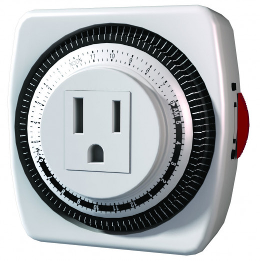 - A Mechanical, Plug-in Timer:- Less Than £5:00 To Buy -