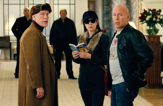 John Malkovich, Mary-Louise Parker and Bruce Willis star in RED 2. The three are on the run from several friends who have been contracted to kill them.