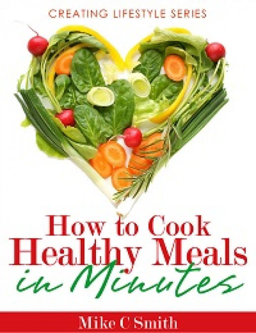 e-book full of healthy recipes that can be cooked in minutes