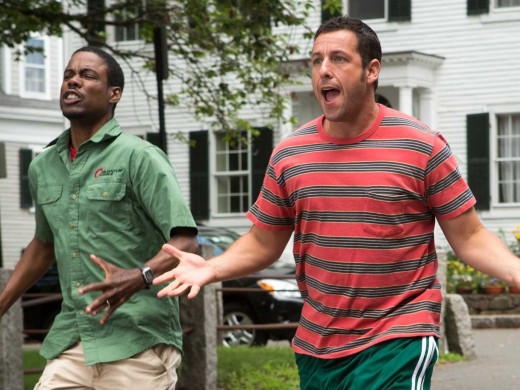 Chris Rock and Adam Sandler star alongside Kevin James and David Spade in Grown-Ups 2