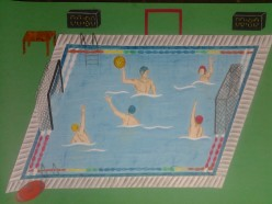 How to make water polo scene using paper