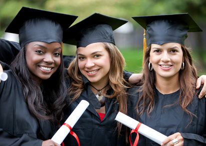 Picture of young ladies graduating from university